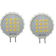 billige Bi-pin lamper med LED-2pcs 300-350lm G8 LED-lamper med G-sokkel T 16 LED perler SMD 2835 Vanntett Dekorativ Varm hvit Kjølig hvit 110-130V 220-240V