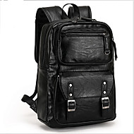 Men Bags Cowhide Backpack for Casual Outdoor Black