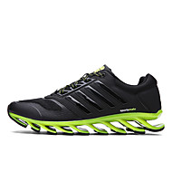 cheap Extended-Size Shoes-Shoes Fall Novelty Walking Shoes Lace-up for Outdoor Black/White Black/Green