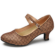 billige Moderne sko-Kan spesialtilpasses-Dame-Dansesko-Latinamerikansk Moderne-Glimtende Glitter Syntetisk-Stiletthæl-Sølv Grå Gull