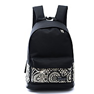 Women Bags Canvas School Bag for Casual Sports Outdoor All Seasons White Rainbow