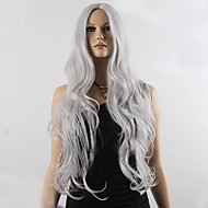 Fashion Natural Wavy Long Length Grey Color Popular Synthetic Wig For Woman Cosplay Wigs.