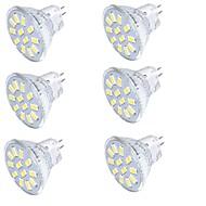 billige -YouOKLight 350 lm GU4(MR11) LED-spotpærer MR11 15 leds SMD 5733 Dekorativ Varm hvit Kjølig hvit 9-30