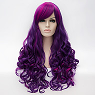 Cosplay Wig Wind Lolita Multi color Fashion Pink Purple Balayage Hair Long Deep Wavy Daily Wig  Synthetic Wigs
