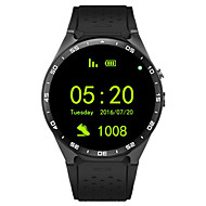 SmartWatch 3g kingwear w8 1,39 '' AMOLED-400 * 400 slimme horloge 3g bellen 2.0MP camera stappenteller hartslag