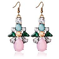 1pair / pink stud earrings forwomen elegante estilo feminino clássico