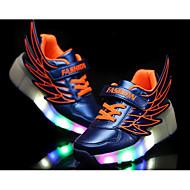 baratos Sapatos de Menina-Para Meninas Sapatos Couro Ecológico Verão Tênis com Rodinhas / Tênis com LED Tênis Caminhada LED para Laranja / Fúcsia / Azul Real