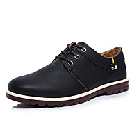 cheap -Men's Shoes PU Spring Fall Oxfords for Casual Office & Career Black Brown Khaki
