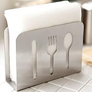 נירוסטה סכין מזלג freestanding משטחי נייר מגבת נייר לעמוד כלי מטבח