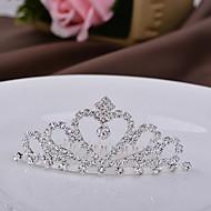 crianças tiaras coroa de liga de coração