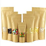 theezakjes kraft venster ziplock zakken de verpakking van levensmiddelen, zelfsluitende zakken groothandel op maat wolfberry een tien pak