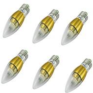 E14 LED-lysestakepærer CA35 50 leds SMD 3014 Dekorativ Varm hvit 500lm 3000K AC 85-265 AC 220-240 AC 100-240 AC 110-130V