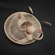 cheap Wedding Headpieces-Flax Feather Fascinators 1 Wedding Special Occasion Headpiece