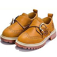tanie Obuwie chłopięce-Dla chłopców Buty Nappa Leather Zima Jesień Comfort Oksfordki na Casual Na wolnym powietrzu Dark Blue Brown