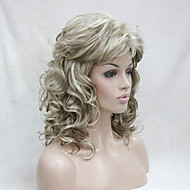 Syntetisk hår Parykker Krøllet Med bangs / pandehår Carnival Paryk Halloween Paryk uden dæksel Parykker Medium Blond