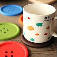 円形 ソリッド 水玉柄 コースター , プラスチック 材料