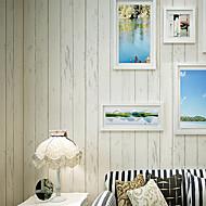 3D / Madeira Papel de Parede Para Casa Contemporâneo Revestimento de paredes , Outro Material adesivo necessário Mural , quarto