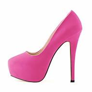baratos Sapatos Femininos-Mulheres Sapatos Tecido Primavera / Outono Saltos Salto Agulha / Plataforma Verde / Azul / Amêndoa / Casamento / Festas & Noite / Social / Festas & Noite