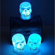 de verkoop van halloween decoratie supplies schedel 's nachts licht willekeurige kleur