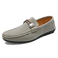 Bărbați Pantofi Piele de Căprioară Primăvară Vară Toamnă Iarnă Mocasini Mocasini & Balerini Pentru Casual Negru Gri Albastru Vișiniu
