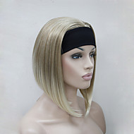 Vrouw Synthetische pruiken Zonder kap Recht Kinky Recht Blond half Pruik Halloween Pruik Carnaval Pruik Kostuumpruiken