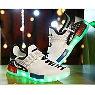 男の子 靴 チュール 秋 コンフォートシューズ ライトアップシューズ スニーカー 用途 スポーツ ホワイト ブラック