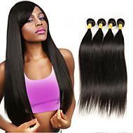 ブラジリアンヘア ストレート クラシック 人間の髪織り 4個 高品質 人間の髪編む 日常