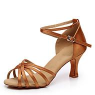 baratos Sapatilhas de Dança-Mulheres Sapatos de Dança Latina / Dança de Salão Cetim Salto Salto Personalizado Personalizável Sapatos de Dança Azul / Amêndoa / Vermelho