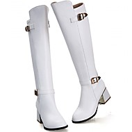 baratos Sapatos Femininos-Mulheres Sapatos Sintético / Couro Envernizado / Courino Primavera / Inverno Inovador / Botas Cowboy / Country / Coturnos Saltos Caminhada