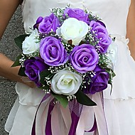 "cheap Wedding Flowers-Wedding Flowers Bouquets Wedding Party / Evening Satin 9.84""(Approx.25cm)"