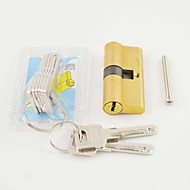 Lock Cylinder Key/Key 65mm(32.5/32.5)Lock Cylinder 8 Keys Brass