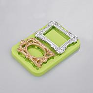 2 полости 3 d силиконовая форма фоторамка пресс-форма для торта для легкого выпекания инструмент завод ramdon цвет