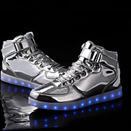LED Light Up Shoes , Unisex Sneakers Spring / Fall / Winter Fashion Boots Synthetic Outdoor Casual Flat Heel Silver / Gold