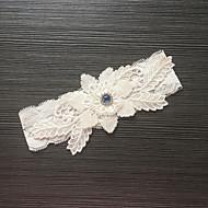 billige -Blondelukning Stræksatin Mode Bryllup Garter  -  Bjergkrystal Blomst Strømpebånd