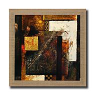 billige Innrammet kunst-Håndmalte Abstrakt Kjent Landskap Still Life fantasi Blomstret/Botanisk Abstrakte Landskap Kvadrat, Moderne Realisme Lerret Hang malte