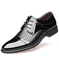 Недорогие -Для мужчин обувь Лакированная кожа Зима Осень Формальная обувь Туфли на шнуровке для Повседневные Для вечеринки / ужина Черный Коричневый