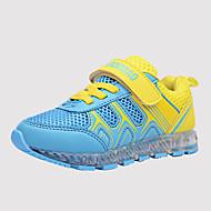 baratos Sapatos de Menino-Unisexo Sapatos Tule / Couro Ecológico Primavera Tênis com LED Tênis Corrida / Fitness / Caminhada Cadarço / Combinação / Velcro para