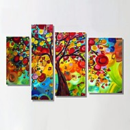 Ready to Hang Stretched Frame Hand-Painted Oil Painting Money Tree Christmas Decoration Wall Art