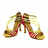 Kan spesialtilpasses-Dame-Dansesko-Latinamerikansk Salsa-Glimtende Glitter-Kustomisert hæl-Svart Blå Rød Sølv Gull