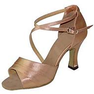 baratos Sapatilhas de Dança-Mulheres Sapatos de Dança Latina / Sapatos de Salsa Cetim Sandália / Salto Presilha Salto Personalizado Personalizável Sapatos de Dança