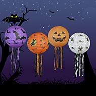 4pcs halloween papel abóbora da lanterna do dia das bruxas fornece adereços decorativos assombrado casa cena abóboras papel lanternas
