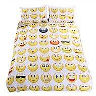 Hot Sale Emoji Bedding Set Interesting and Fashion Duvet Cover for Young People New Year Bed Sheets 3Pcs Twin Full Queen