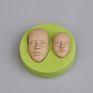 billige Bakeredskap-Bakeware verktøy Silikon / Miljøvennlig Økovennlig / Non-Stick / Ny ankomst Kake / Til Småkake / For Småkake Rund Cake Moulds 1pc