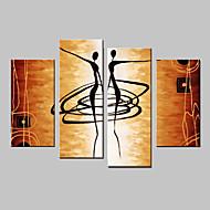 Χαμηλού Κόστους Πάνω Καλλιτέχνης-Ζωγραφισμένα στο χέρι Αφηρημένο Οποιοδήποτε σχήμα Τετράπτυχα Καραβόπανο Hang-ζωγραφισμένα ελαιογραφία For Αρχική Διακόσμηση