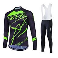 Fastcute Muškarci Žene Dugih rukava Biciklistička majica Bicikl Kompleti odjeće, Ugrijati, Quick dry, Podstava od flisa, Prozračnost,
