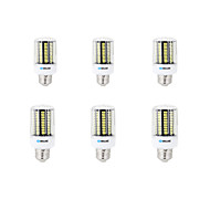 お買い得  LED電球-BRELONG® 6本 8W 800lm E14 E26 / E27 B22 LEDコーン型電球 B 136 LEDビーズ SMD 5733 装飾用 温白色 クールホワイト 200-240V 220-240V