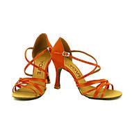 billige Moderne sko-Dame Sko til latindans / Salsasko Sateng Sandaler / Høye hæler Spenne / Sløyfe Kustomisert hæl Kan spesialtilpasses Dansesko Bronse / Mandel / Naken / Ytelse / Profesjonell