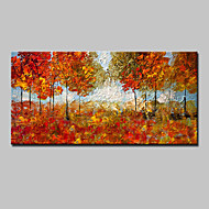 billiga Blom-/växtmålningar-Hang målad oljemålning HANDMÅLAD - Blommig / Botanisk Europeisk Stil Moderna Duk