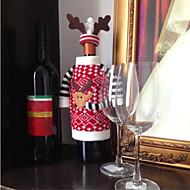 クリスマス鹿ヘラジカスタイル赤ワインシャンパンボトルは、新しい年クリスマスの飾りの飾り用のバッグをカバー