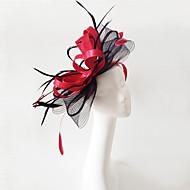 Vlas / Veer fascinators / Hoofddeksels met Bloemen 1pc Bruiloft / Speciale gelegenheden Helm